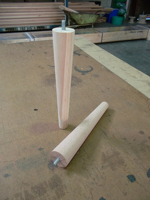 Round Timber Table Legs