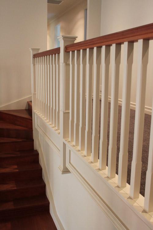 Chamfered Wooden Balustrade