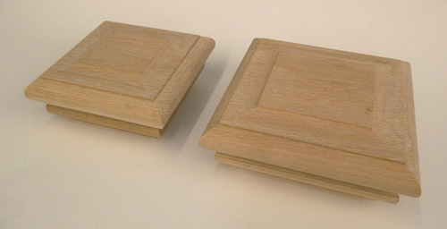Timber Stair Post Caps