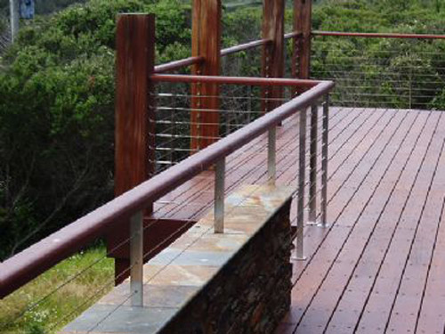 Timber Handrails For Exterior Use | External Wooden Hand Rails