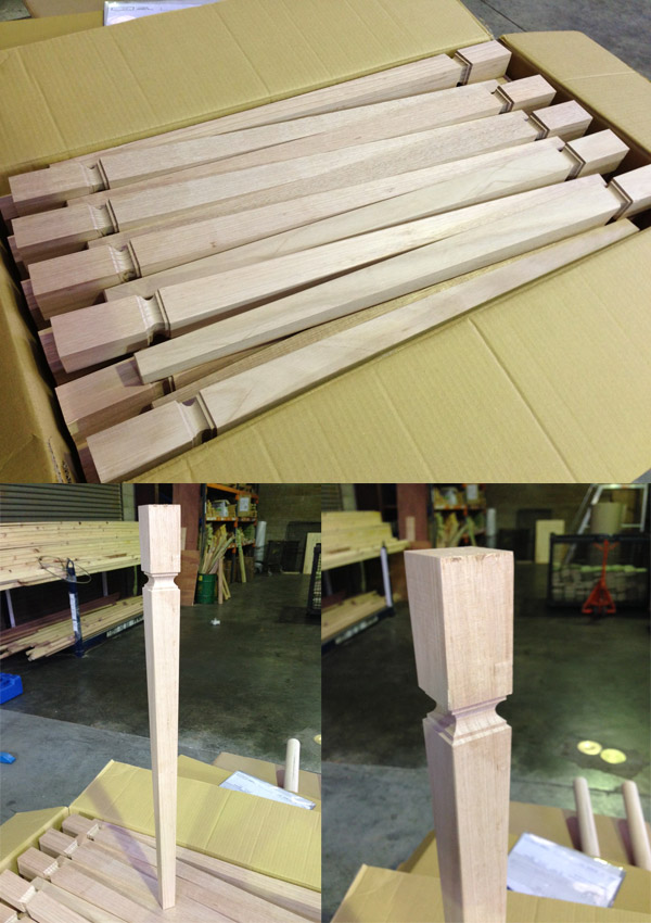 Square Tapered Table Legs