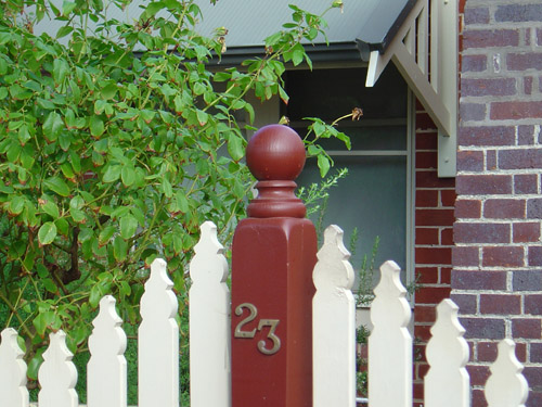 Treated Fence Post Capitals