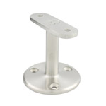 60mm Upright Stainless Handrail Brackets - Flat Cradle (Satin)