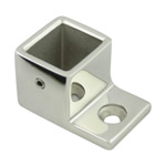 Wall Flange for 21x25 Rectangular Mirror Slotted Tube
