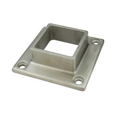 Base Plate with 4 Holes for 50 Square Satin Tube