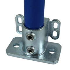 Floor Flange with Rear Fix Points for 48mm Galvanised Pipe