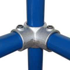 90 degree Corner Centre T for 42mm Galvanised Pipe