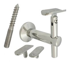 80mm Adjustable Handrail Brackets (Mirror)