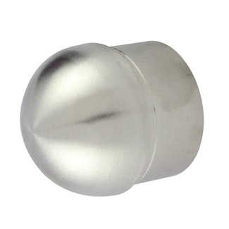 Half Ball End Cap for 38.1 Round Satin Tube