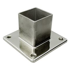 Base Plate (Internal Fit) for 50 Square Tube 316 Stainless
