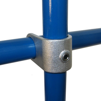 Clamp-on Crossover for 60mm Galvanised Pipe