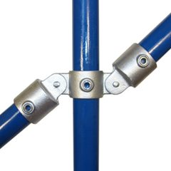 Double Swivel Straight Connector for 60mm Galvanised Pipe