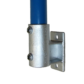 Upright Side Support (Vertical Base) for 42mm Galvanised Pipe