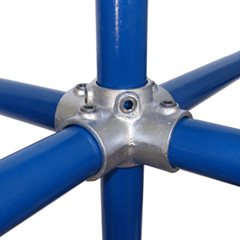 4-Ways Centre Cross for 48mm Galvanised Pipe