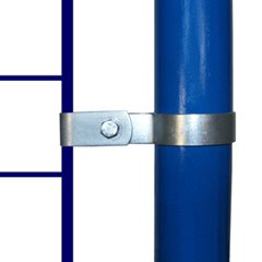 Single Mesh Panel Clip for 27mm Galvanised Pipe