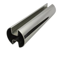 Double Slot Rnd Tube 50.8 diam (316 Mirror) - 2.9 metre Length