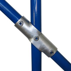 Adjustable Cross (30-45 degrees) for 34mm Galvanised Pipe