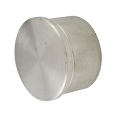 Flat End Cap for 50.8 Round Satin Tube