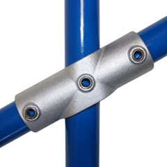 Sloping Cross (11-29 degrees) for 48mm Galvanised Pipe