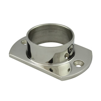 Oblong Base Plate for 38.1 Round Mirror Tube