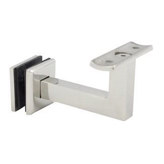 80mm Square Bracket for Glass - Curved Cradle (Mirror)