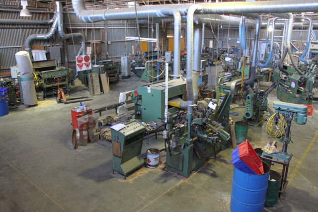 Our main factory area where most of our woodturning is done