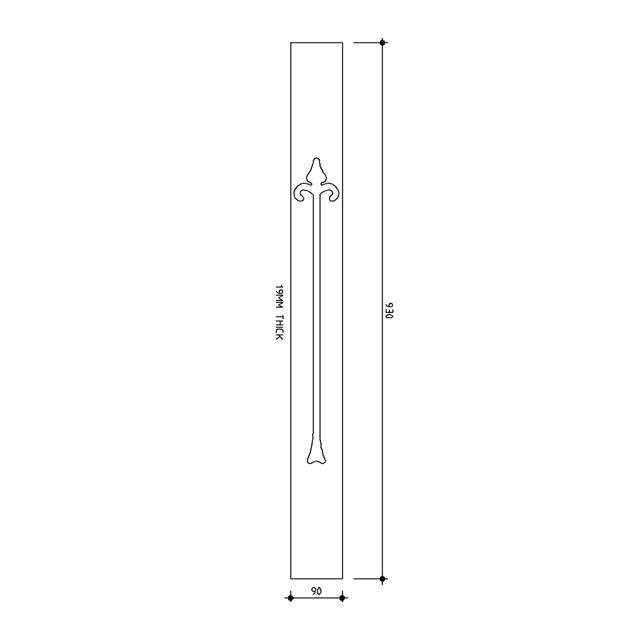 Spade Treated Baluster 930x90x19