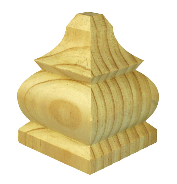 Treated Fence Post Caps Timber Capitals Exterior Post