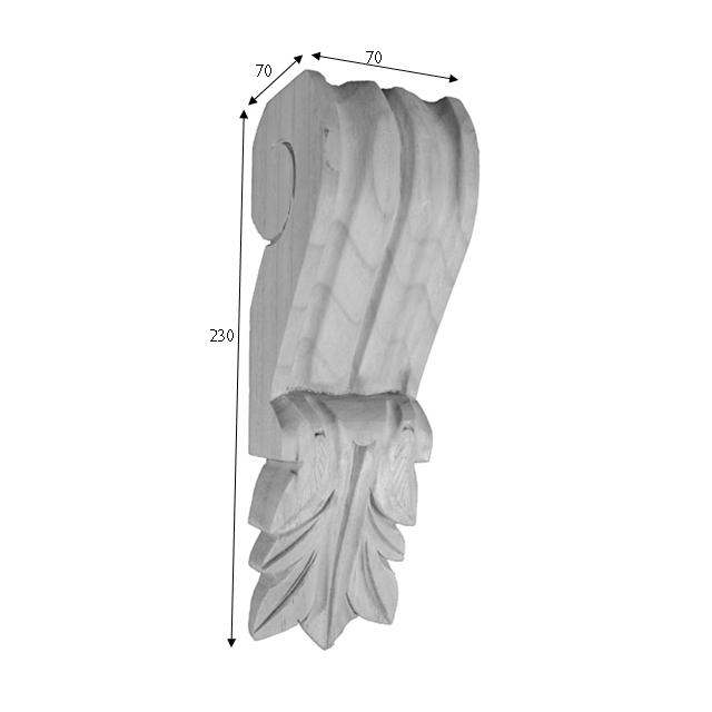 230x70x70 C22 Timber Corbels