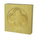 Quatrefoil Architrave Blocks 95x95x22