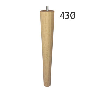 250mm Slim-Line Turned Furniture Legs (Vic Ash)