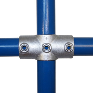 Two Socket Cross for 60mm Galvanised Pipe
