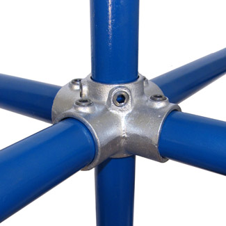 4-Ways Centre Cross for 60mm Galvanised Pipe