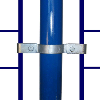 Double Mesh Panel Clip for 60mm Galvanised Pipe