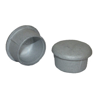 Aluminium End Cap for 60mm Galvanised Pipe