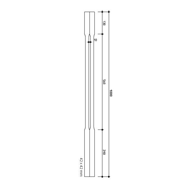 Chamfered Timber Balusters 1000x42sq (Pine)