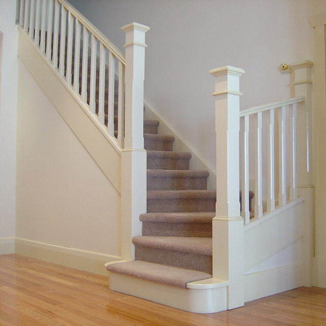 Chamfered Timber Balusters Wooden Pine Stair Balustrade