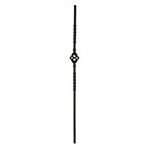16mm square Single Cage Metal Balusters