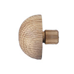 50mm diameter Domed End Cap (American Oak)
