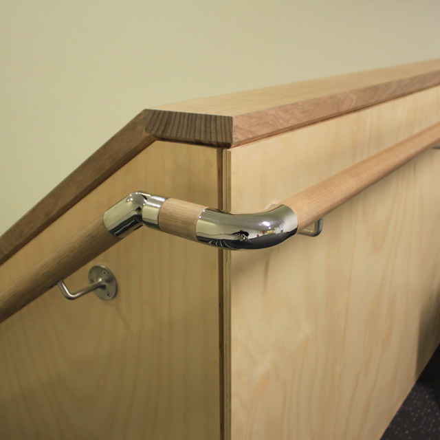 Designer Handrail - 43mm diam - Adjustable Bend (Mirror)