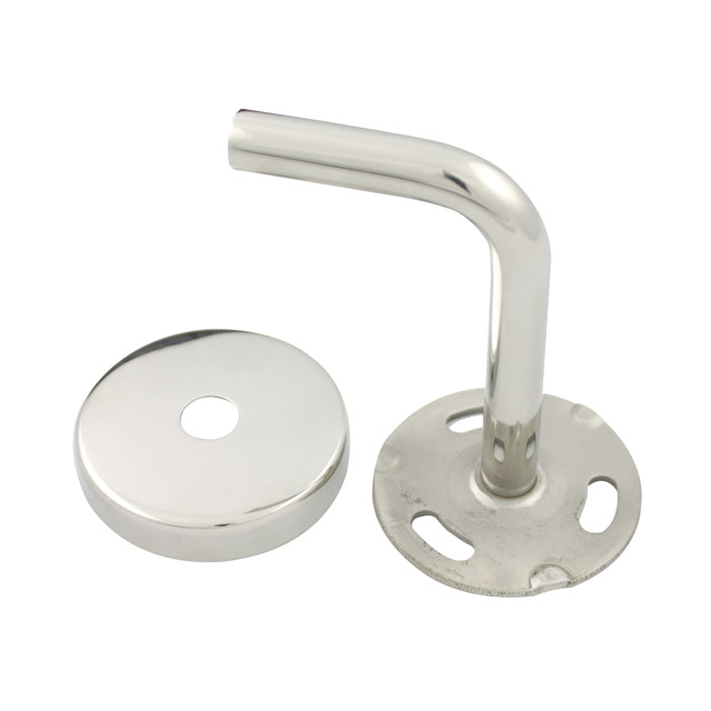 85mm Stainless Handrail Brackets - Curved Cradle (Mirror)