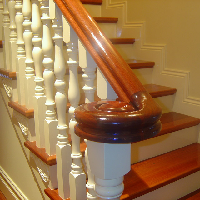 Heritage Stair Handrails - Left Volute (Vic Ash)