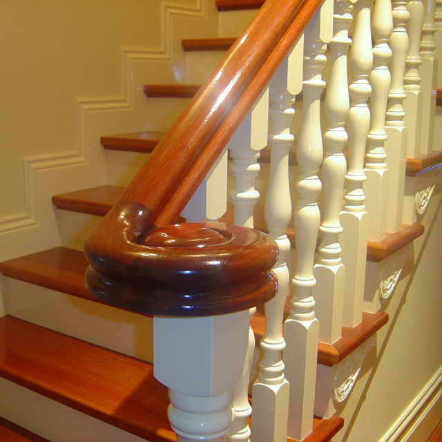 Heritage Stair Handrails - Right Volute (Vic Ash)