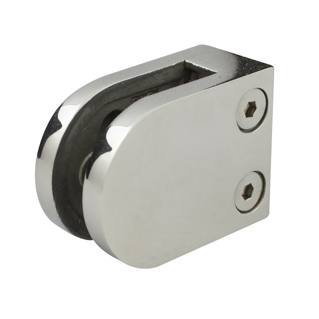 Medium D Clamp - 10 or 12mm Glass - Flat Back - Mirror