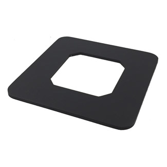Cover For Square Black Glass Spigot - Core Drilled
