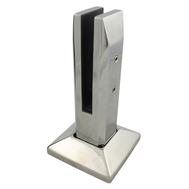 Square Stainless Steel Glass Spigot - Deck Mount