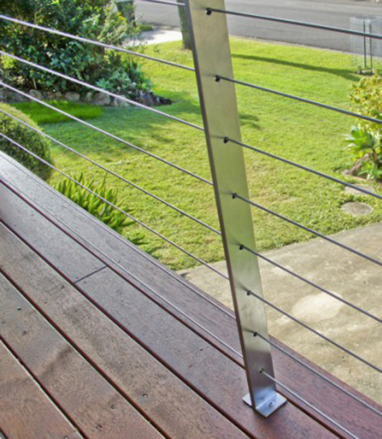 Steel Wire Fence | Diy Balustrade Posts Stainless Steel Balustrading Ssp091 S6