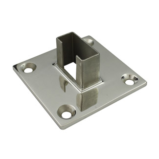 Base Plate for 25x50 Rectangular Mirror Tube