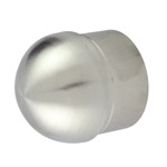 Half Ball End Cap for 50.8 Round Satin Tube
