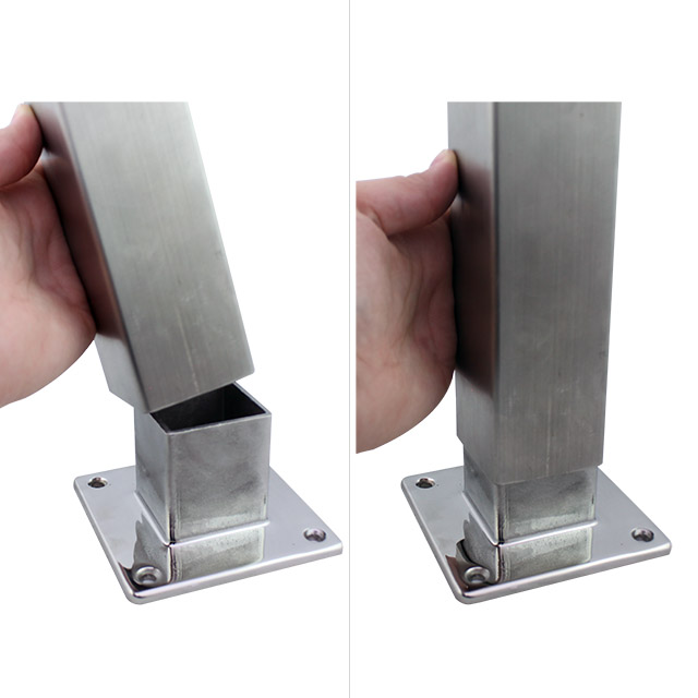 Stainless Steel Fittings Square Stainless Balustrade